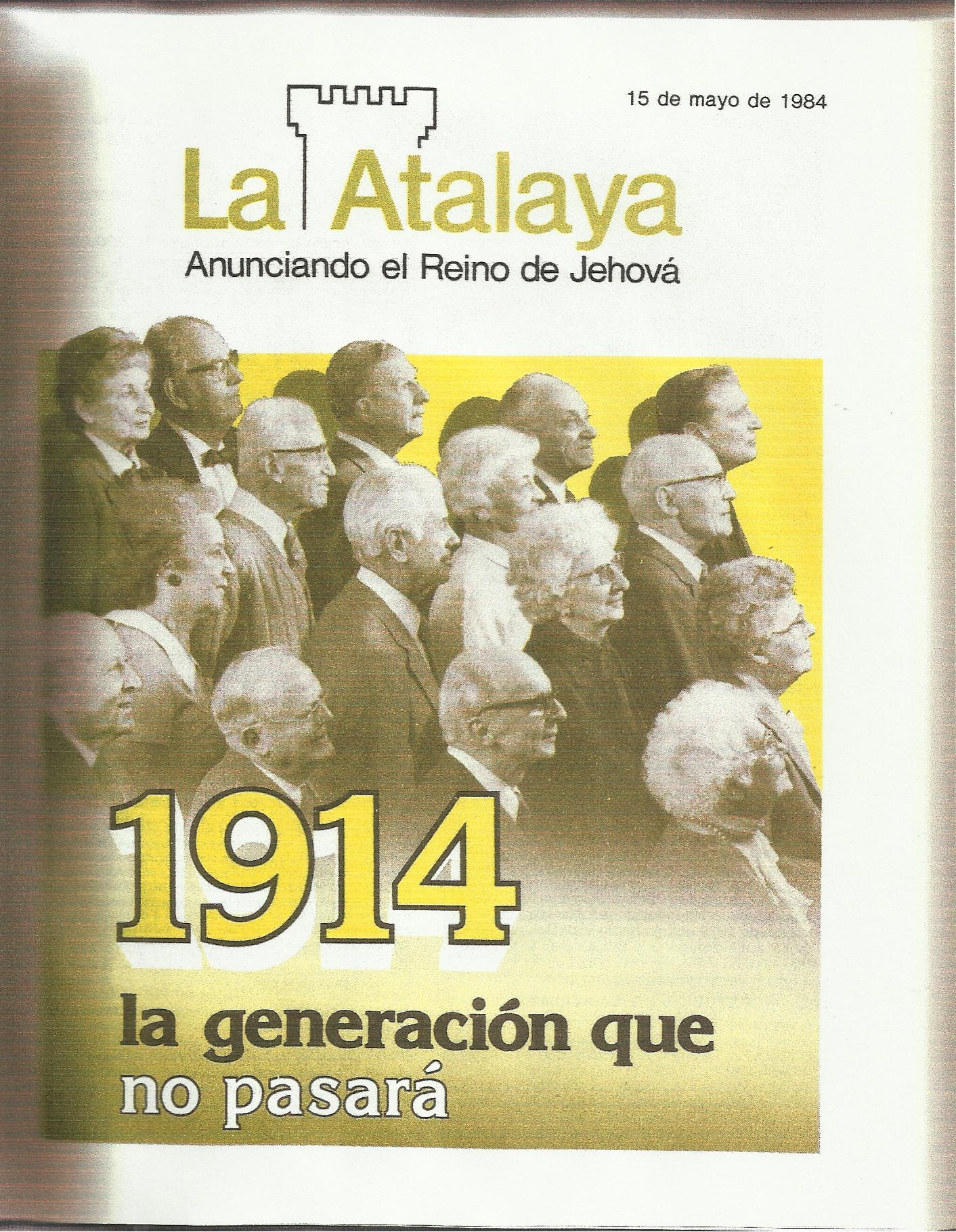 Generación. Atalaya 1984 15 de Mayo, portada 001
